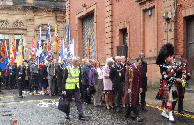 Procession underway