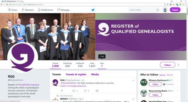 RQG Twitter profile
