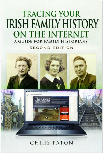 Book cover of Irish family history research on the internet